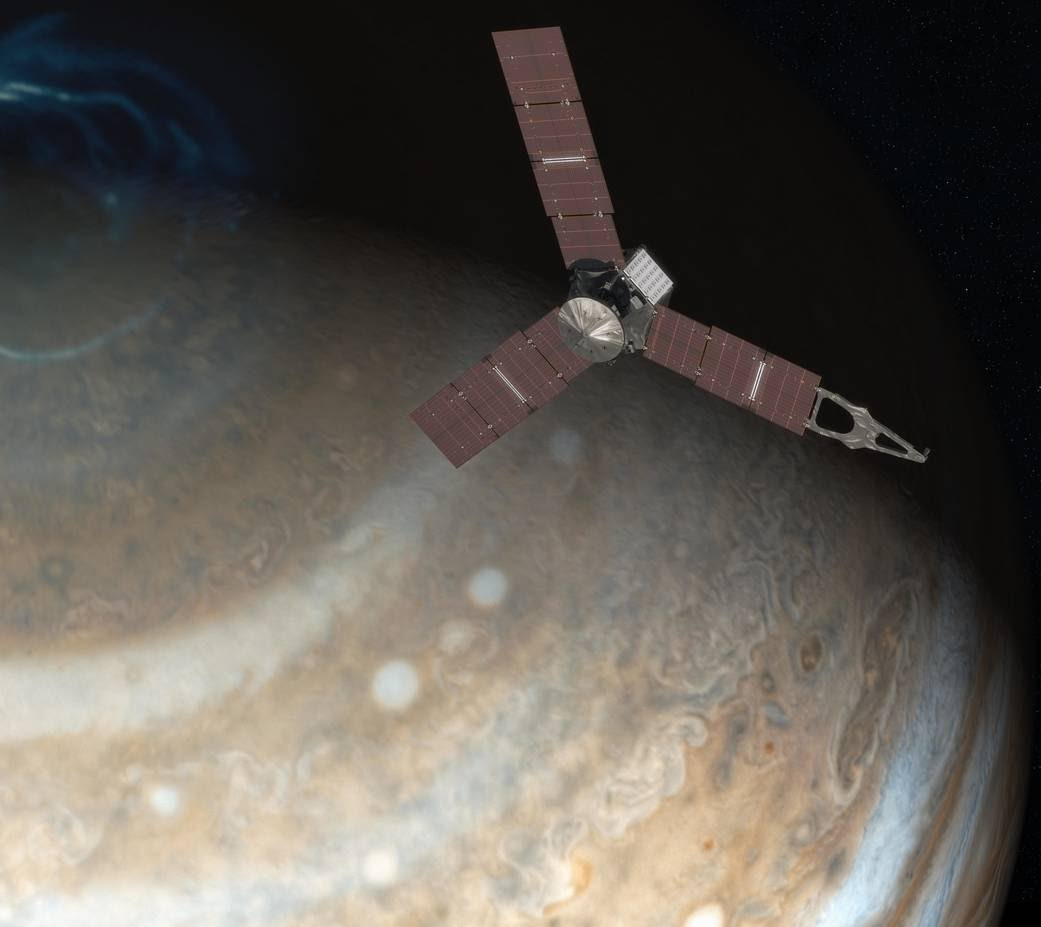 Juno-spacecraft and Jupiter